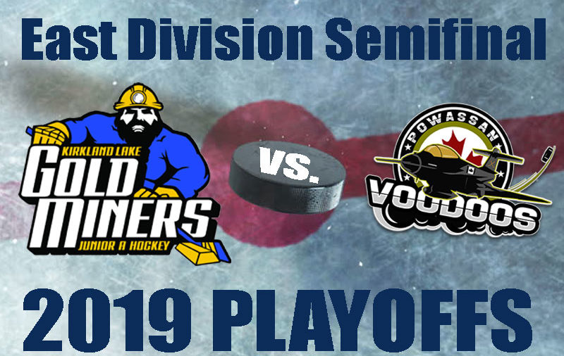 NOJHL playoff preview: East semifinal – Kirkland Lake Gold Miners vs. Powassan Voodoos